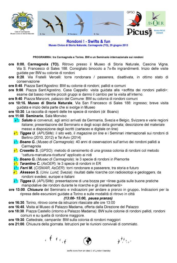 Programma Apus 29 BOZZA