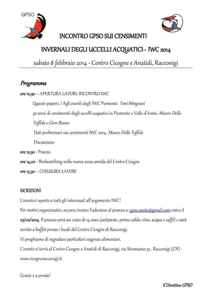 Locandina IWC Racconigi
