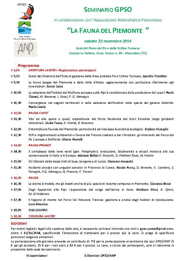 Programma GPSO ANP 2014