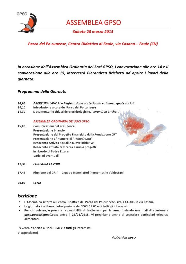 Programma  Assemblea 2015