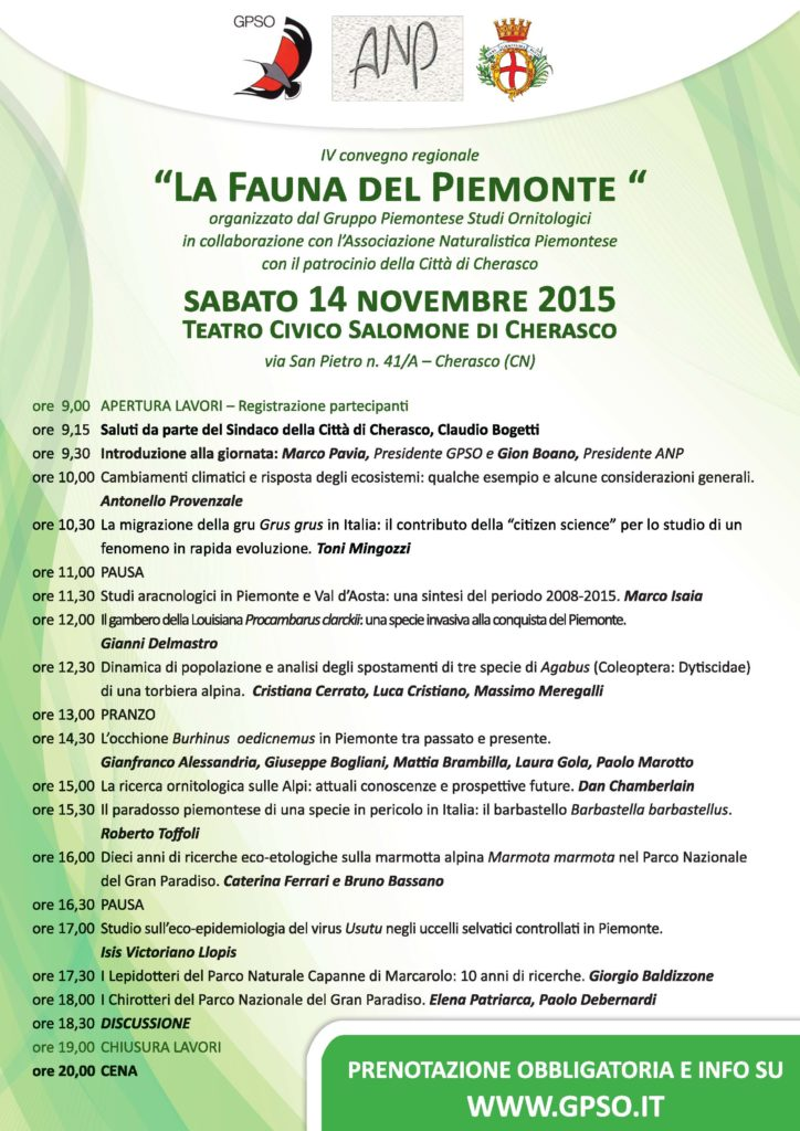 La Fauna del Piemonte